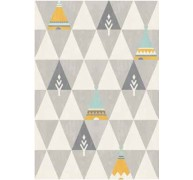 Dywan Home Art Wigwam Canvas Szary 18415052