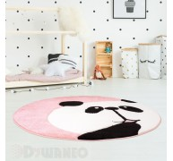 Dywan Beauty Kids 1389 Róż Panda Koło