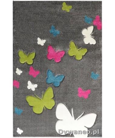 Dywan Butterfly Motylki Szary